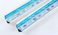 Wholesale Led Reflectors Bar - Wholesale-24v or 12v 20pcs Lot by fedex 72 Leds 1 M pc 12V Bright White Aluminum Rigid Led strip Bar Light SMD 5730 with Mirror Reflector
