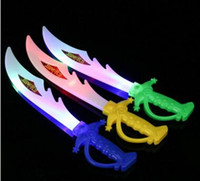 Wholesale Toy Knives Swords - Led Toys Electronic Light Knife Simulation Children's Toys Sword Colorful Flash Swords Gifts For Kids
