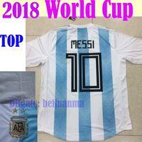5974e5f1c Soccer Men Short 2018 world cup Argentina Soccer Jersey 2018 Argentina Home  Blue soccer Shirt Messi