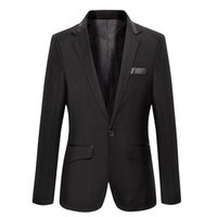 Gros-Men Costumes pour le mariage Black Velvet Blazer Casual Blazer chinois Costumes Masculino Costume Homme Cuir Mens Blazer Terno