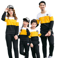 Wholesale Boys Formal Outfit - Family Clothing New 2017 fashion Autumn mother father Boy Girls Cotton clothes set Family Matching Outfits Mommy and Me Clothes