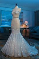 Wholesale Low Priced Mermaid Wedding Dresses - Real Sample Mermaid Wedding Dresses 2016 Sweetheart Belt Low Price Bling Sexy robe de mariage vestidos de noiva