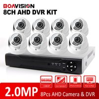 Wholesale Ir Night Vision Dome Camera - 1080P AHD 8Ch CCTV System HDMI DVR 8 Channel Home Security DIY Kit With 2.0MP Indoor Night Vision IR 20M HD AHD Dome Camera