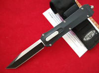 Wholesale Microtech Troodon A162 Knife - Full size Microtech A162 Combat Troodon double action out the front knives 440C steel Pocket knife with retail box and nylon pouch