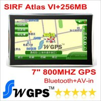 Wholesale Mercedes Gps - HD 7 inch GPS navigation with SIRF Atlas VI 800MHZ + Windows CE 6.0+ Bluetooth+ AV-IN+256MB DDR3+8GB flashroom