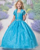 Wholesale Dresse For Girls - Flower Girl Dresses First Comunion Dresses For Girls Kids Frock Designs Girls Pageant Dresse Festa Casamento