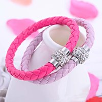 Wholesale rhodium bracelet for boys resale online - Top Grade Infinity bracelets Hot Sale New Fashion Leather Braided Charm Bracelet for Women Girl Boy Jewelry DR