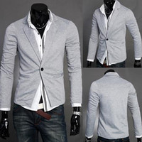 Wholesale Cardigan Men Wear - New Chaqueta Men cardigan sport jacket Coat Men blazer Fashion suits Autumn men's casual suit blzer ajaqueta esporte outdoor wear