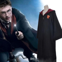 Wholesale harry potter robes online - Harry Potter Cloak Robe Cape Gryffindor Cosplay Costume Kids Adult Cloak Robe Cape Halloween Gift Fashion clothing