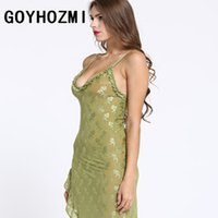 Wholesale Sex Baby Doll For Man - Sexy lingerie for women Baby Dolls sex products Exotic lingerie intimates sexy costumes women's sexy Green flounced dress