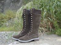 Wholesale Snow Boots Buttons Tall - Hotsale Women's Tall boots Classic Warm genuine leather Boots,Lady's Fashion Round Toes Waterproof Knee Boot four color size 36-40