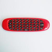 kablosuz fare klavye 2.4g ayarla toptan satış-2.4G Kablosuz Sinek Oyun Hava Fare C120 4 Renkler klavye kolu Dizüstü Set-top-boxes Android TV için Uzaktan Kumanda