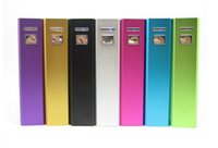 Wholesale Customizable Usb - customizable logo 2600mAh External Portable Power Bank Battery USB Charger Powerbank Mobile Power For iPhone Mobile with Battery