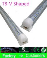 natürliches weißes fluoreszierendes licht großhandel-Super helle V-förmige integrierte Rohre T8 führte Leuchtröhrenlichter 32W 5FT 1.5m führte Leuchtstofflampe 270 doppeltes Glühen warm / natürlich / kühles Weiß