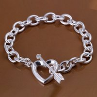Wholesale Sterling Silver Word - Hot sale best gift 925 silver Stone mandrel Bracelet - no words DFMCH034, brand new fashion 925 sterling silver Chain link bracelets