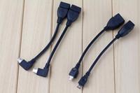 otg kabel für tablet pc großhandel-Mini Micro USB OTG HOST Kabel Adapter Schwarz 10 cm Für Samsung HTC Android Tablet PC A10 ÜBER Rk Sony MP3 MP4 Smartphone