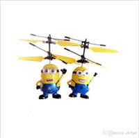 rc helicopter big al por mayor-Retail ME MaleFemale Big max Big hero Bola de cristal Despicable Fly Minion Radio Sensor RC Helicóptero Juguetes regalos ME mejor regalo para niños