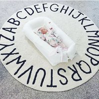 Wholesale Play Land - Wholesale- 120cm 26 Individual Letter Round Pad Children Play Game Tent Land Mat Children Room Decoration Baby Crawling Carpet