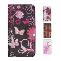 Wholesale Cute Chinese Wallets - S5Q Wallet Flip PU Leather Case Cute Vintage Covers For Alcatel One Touch POP C7 AAADXT