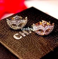 Wholesale Band Sunshine - Sunshine jewelry store J288 gorgeous rhinestone mask adjustable ring ( $10 free shipping )