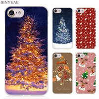 BINYEAE Pizza Christmas Presents Clear Cover per cellulare per Apple iPhone 4 4s 5 5s SE 5c 6 6s 7 7s Plus