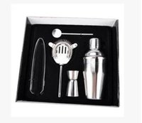 Wholesale Drink Mixer Kit - 350ML stainless steel Cocktail Shaker Mixer Drink Bartender Kit Bars Set Tools 10set lots free shipping