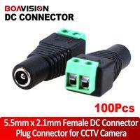 Wholesale Utp Plug - 100pcs lot Female CCTV UTP Power Plug Adapter Cable BNC Connector