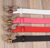 Wholesale Golden Double - High quality cowskin belt double buckle real leather luxury male designer belt for men women size