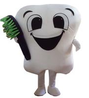 Wholesale Tooth Mascot Costumes - Hot Sale tooth Mascot Cartoon Mascot Costume Fancy Dress