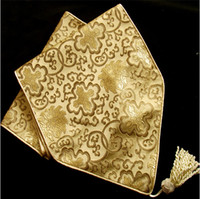 Wholesale Damask Runners - Fashion Luxury Damask Printed Dinner Party Table Runner High End Decorative Table cloths size L196 x W 33cm Free shipping