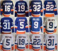 Wholesale Boys New York - Men New York Islanders Throwback Jersey 32 Steve Thomas 5 Denis Potvin 9 Clark Gillies 16 Pat LaFontaine Vintage Blue White Hockey Jerseys