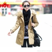 Wholesale Womens Plus Sized Winter Coats - Wholesale-New Winter Jacket Coat Women Parka Woman Clothes Fur Duck Down Jacket Thicken Plus Size Womens Winter Jackets And Coats 2015