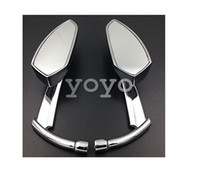 Wholesale Dyna Mirror - Motorcycle Motorcycle Chromed Spear Blade Mirrors Fit Sportster Dyna Softail