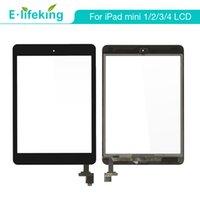 ipad mini digitizer ersatz schwarz großhandel-Großhandel für iPad Mini Mini 2 3 4 Touchscreen Digitizer Assembly Front Glaslinse Ersatzteil Touchscreen frei DHL + schwarz weiß