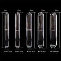 Wholesale Huge Glass Toys - 9inch Glass dildo Big Huge Lage glass dildos Sex glass penis Crystal Anal Butt Plug Anal beads Sex toys for women