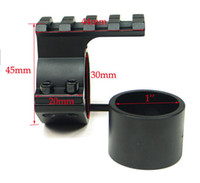 adaptador para trilhos picatinny venda por atacado-Barril Mount 1 '' 25.4mm / 30mm Anel 20mm adaptador de trilho Picatinny tecelão Para Rifle Scope