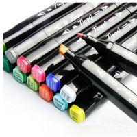 renkli taslak kalemi toptan satış-Ücretsiz Kargo Alkol 48 Renk 3 Nesil Kalem Boya Çizim Finecolour İşaretleyiciler Manga Tasarım Renk Kalıcı Kroki Işaretleyici Setleri