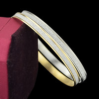 Wholesale Thin Alloy Bangles - Fashion Gold Silver Color Thin Bangle Bracelets for Women