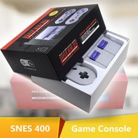 Wholesale Video Player For Tv - Super NES Game Consoles SNES Mini TV Video Handheld Retro Player 400 Classic Games NES For PAL NTSC OTH002 Sega With Retail Box