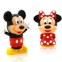 Wholesale Cartoons Pendrive 4gb - 4GB 8GB 16GB 32GB USB flash drive pendrive new style Cute cartoon Mickey pendrive Usb2.0 u disk with boy and girl styles