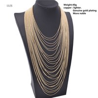 ULEX New Statement Necklace 2017 Multi Layer Long Chain Nappe Torques Collana girocollo Accessori donna Gioielli di moda