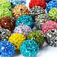 Wholesale Shambala Balls - Wholesale-100pcs lot Wholesale color mix 10mm rhinestone crystal disco ball beads accessories fit shambala DIY bracelet jewelry for women