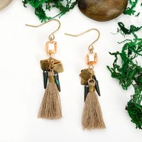 Wholesale Earrings Indian Tassel - 2017 Wholesale trendy women jewelry crystal drop earrings short tassel dangle earrings for women ladies vintage accessories