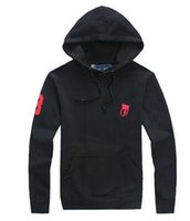 Wholesale Horse Hoodies - Free shipping new Hot sale Mens polo Big Horse Hoodies and Sweatshirts autumn winter casual with a hood sport jacket men's hoodies