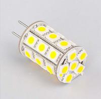 ampoule g6.35 achat en gros de-GY6.35 LED G6.35 ampoule de maïs 27leds SMD 5050 4W Dimmable DC10-30V / AC8-20V Blanc 594LM for Automotive Lighting Armoires Marine
