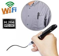 Commercio all'ingrosso HD 720P WIFI Spy Pen fotocamera Wireless H.264 Mini telecamera nascosta Digital Audio Video Recorder Pen videocamera in scatola al dettaglio
