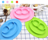 Wholesale Plastic Dining Plates - Baby Placemat Bowl-Highchair Feeding Tray Round Suction plate for Kids Toddlers Kitchen Dining Table with Built in Bowl
