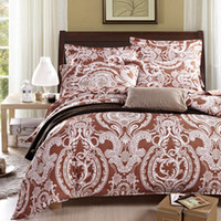 Wholesale Comforter Wedding Twill - Wholesale-Factory Direct Charisma Home Textiles Sandybrown Paisley Luxury Wedding Bedding Set 100% Cotton Twill Print Comforter Set 4pcs