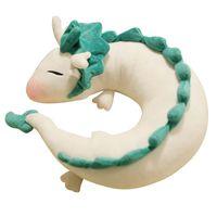 Wholesale miyazaki plush for sale - Anime Miyazaki Hayao Spirited Away Haku dragon plush toys Neck U Shape pillow