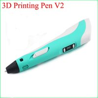 Wholesale Usa Presents - 3D Printer Pen for Children Student Present Kids Drawing Tools With Free three-dimensional Filament Version 2 in stock hot selling in USA